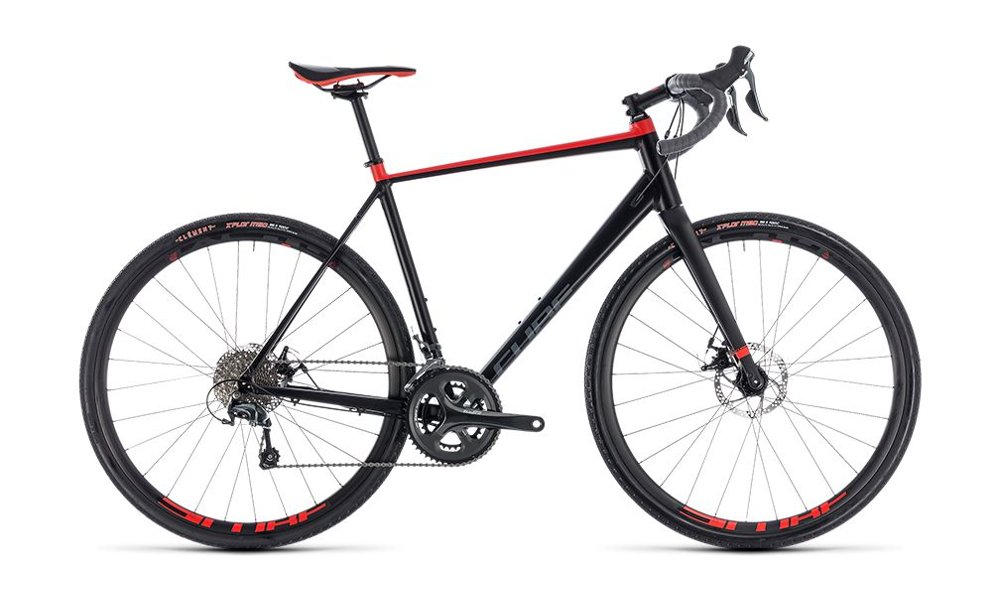 Bici Cube Nuroad black´n´red 2018
