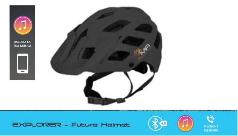 CASCO MFI EXPLORER FUTURE HELMET NERO