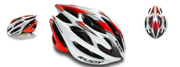 CASCO RUDY PROJECT STERLING WHITE-REDFLUO SHINY