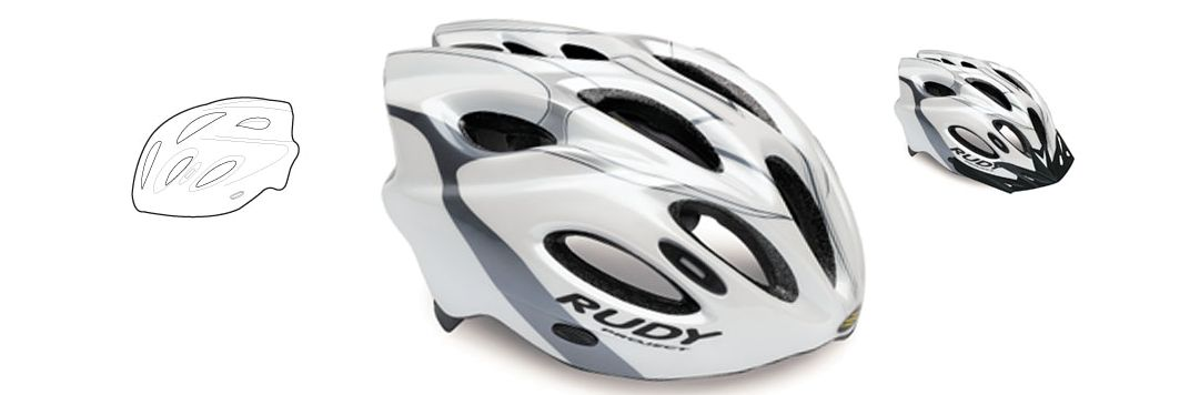 CASCO RUDY PROJECT SNUGGY WHITE-TITAN SHINY