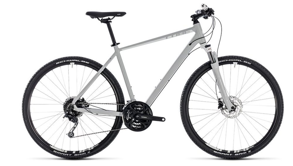 Bicicletta Cube Nature Pro bright grey´n´white 2018