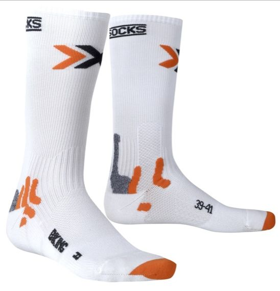 CALZINI X-SOCKS BIKE MID ENERGIZER WHITE