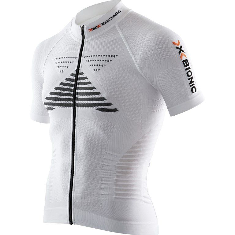 MAGLIA M.C. X-BIONIC BIKING EFFEKTOR POWER SHIRT WHITE/BLACK