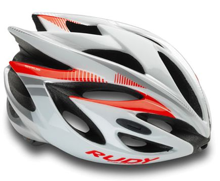 CASCO RUDY PROJECT RUSH WHITE-RED FLUO SHINY