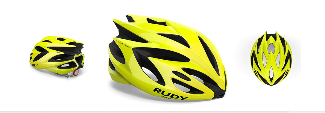 CASCO RUDY PROJECT RUSH YELLOW FLUO SHINY