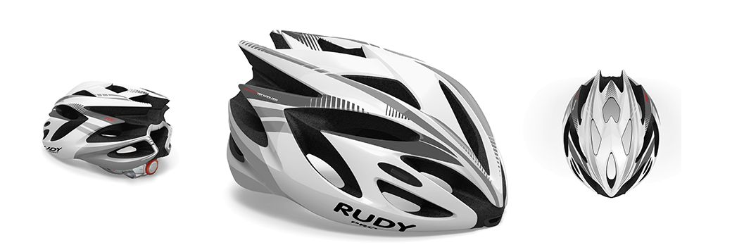 CASCO RUDY PROJECT RUSH WHITE-SILVER SHINY