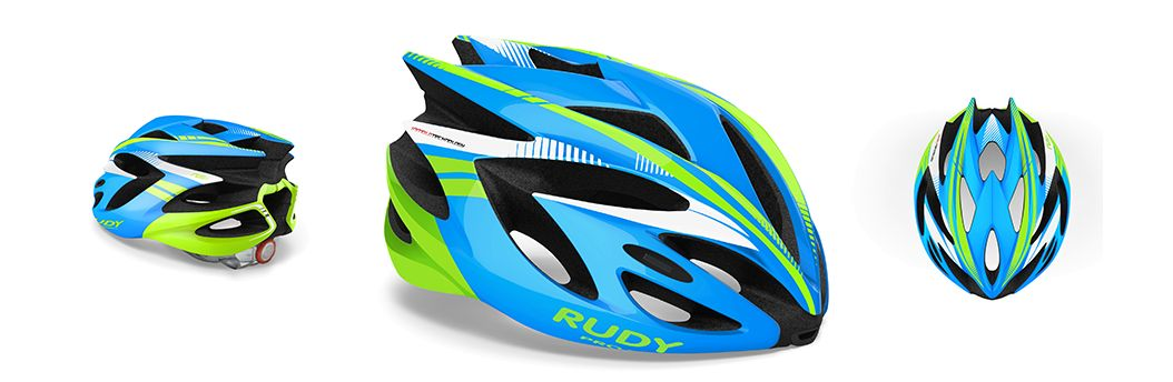 CASCO RUDY PROJECT RUSH BLUE-LIMEFLUO SHINY